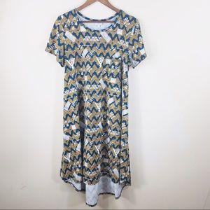LULAROE geometric arrows print short sleeve dress